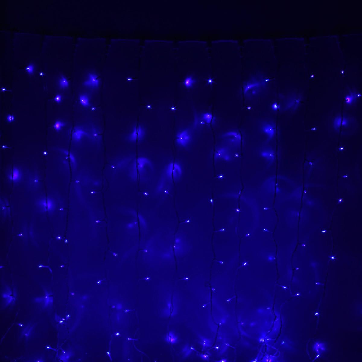 Гирлянда светодиодная Luazon Занавес, цвет: синий, уличная, 760 ламп, 220 V, 2 х 3 м. 10802111080211Гирлянда светодиодная Luazon Занавес - это отличный вариант для новогоднего оформления интерьера или фасада. С ее помощью помещение любого размера можно превратить в праздничный зал, а внешние элементы зданий, украшенные гирляндой, мгновенно станут напоминать очертания сказочного дворца. Такое украшение создаст ауру предвкушения чуда. Деревья, фасады, витрины, окна и арки будто специально созданы, чтобы вы украсили их светящимися нитями.