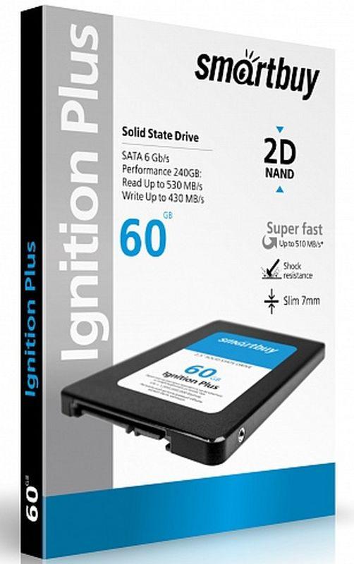 Smartbuy Ignition 60GB SSD-накопитель (SB060GB-IGNP-25SAT3) жесткий диск 60gb corsair force series ls cssd f60gblsb