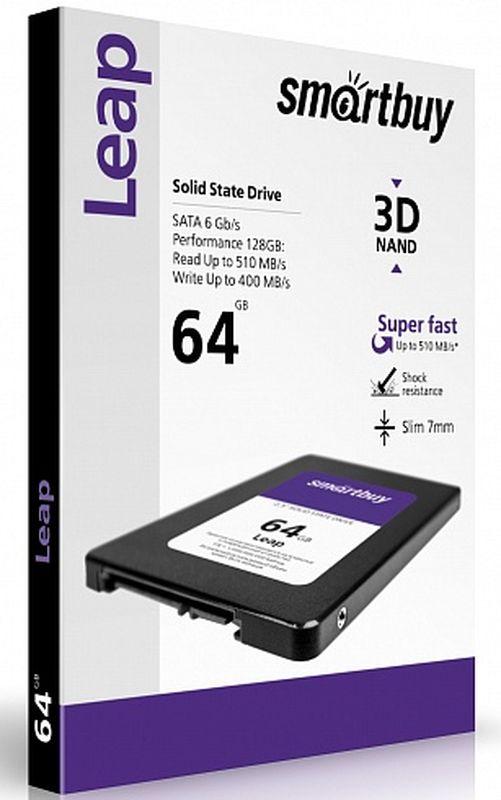 Smartbuy Leap 64GB SSD-накопитель (SB064GB-LP-25SAT3)SB064GB-LP-25SAT3Накопитель информации, основанный на чипах энергонезависимой памяти, которые сохраняют данные после отключения питания.Как собрать игровой компьютер. Статья OZON ГидКакой SSD выбрать. Статья OZON Гид