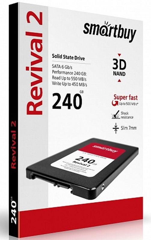 Smartbuy Revival 2 240GB SSD-накопитель (SB240GB-RVVL2-25SAT3)