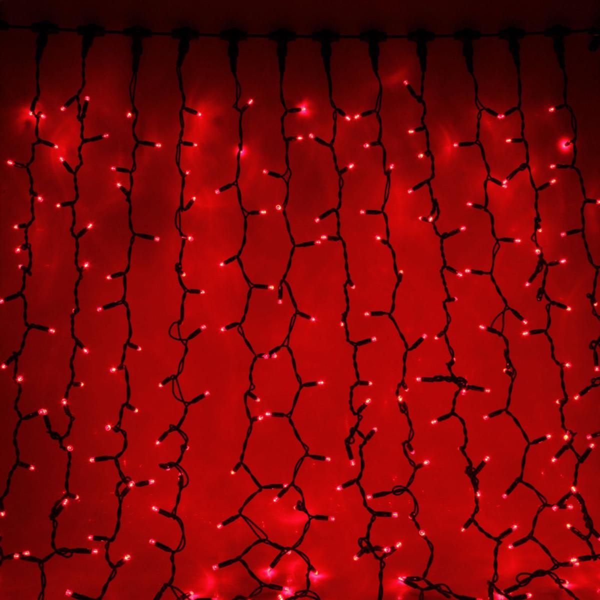 Гирлянда светодиодная Sima-land Занавес, цвет: красный, уличная, 760 ламп, 220 V, 2 х 3 м. 23328582332858Светодиодные гирлянды и ленты — это отличный вариант для новогоднего оформления интерьера или фасада. С их помощью помещение любого размера можно превратить в праздничный зал, а внешние элементы зданий, украшенные ими, мгновенно станут напоминать очертания сказочного дворца. Такие украшения создают ауру предвкушения чуда. Деревья, фасады, витрины, окна и арки будто специально созданы, чтобы вы украсили их светящимися нитями.