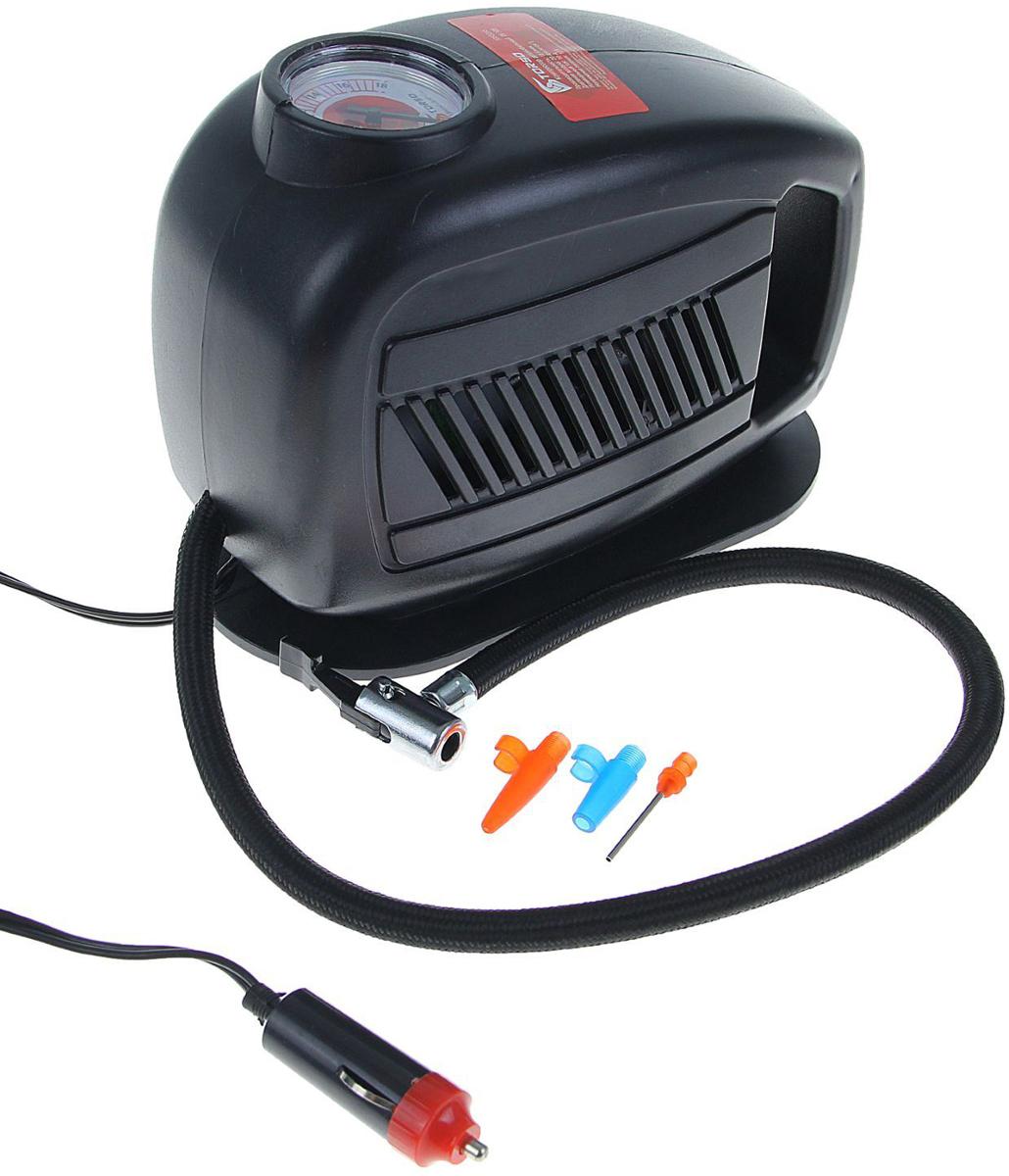 Компрессор автомобильный Torso TK-105, 10А, 18 л/мин1065265Автомобильный компрессор TORSO — это незаменимый помощник автомобилиста. Потребуется для накачивания колеса после прокола, выхода из строя ниппеля или подкачки запаски. Особенно прибор необходим в сезоны смены шин, во время поездок на далёкие расстояния. Специальные насадки позволят подкачать волейбольный мяч, шины велосипеда или резиновую лодку. Бюджетная модель, подойдёт для экономного водителя, который ценит соотношение хорошего качества и оптимальной стоимости.10 А, 18 л/мин, провод 3 м, шланг 65 см