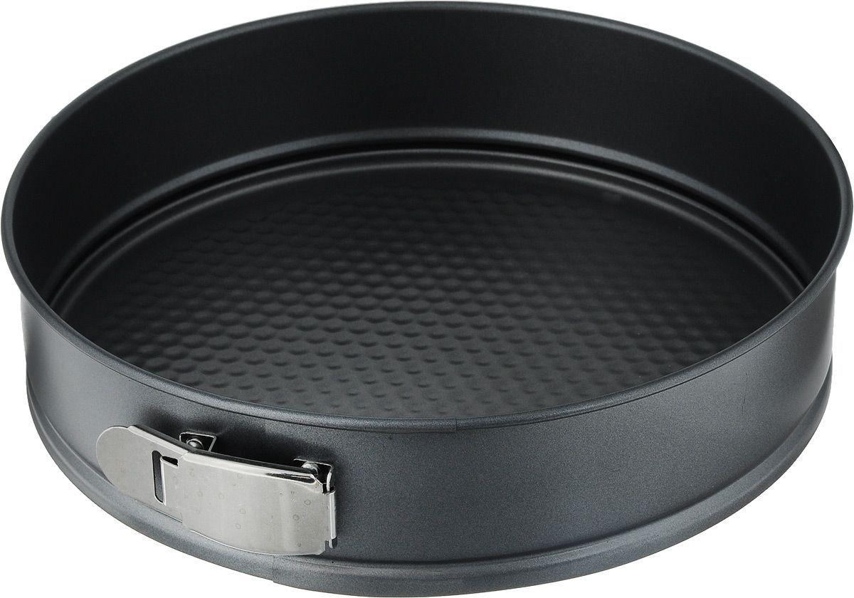 """Круглая форма для выпечки Termico """"Classico""""  изготовлена из высококачественной углеродистой стали с  антипригарным покрытием, благодаря чему выпечка не  пригорает и не прилипает к стенкам посуды. Кроме того,  готовить можно с добавлением минимального количества  масла и жиров. Антипригарное покрытие также обеспечивает  легкость мытья.  Стальные стенки посуды быстро распределяют тепло,  благодаря чему выпечка пропекается равномерно. А съемное  основание помогает легко и просто достать выпечку.  Для чистки нельзя использовать абразивные чистящие  средства и жесткие губки."""