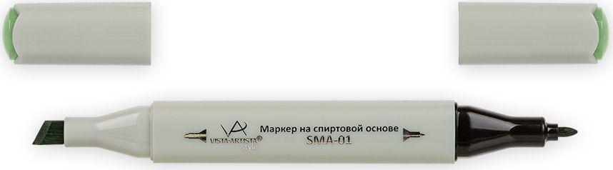 Vista-Artista Маркер Style цвет светлый серо-зеленый Z43533834097252Маркер Style с двумя наконечниками позволяет работать различными живописными техниками такими, как скетчинг, создание иллюстраций, прорисовка дизайнов и др.-толстый, скошенный наконечник используют для закрашивания больших поверхностей и прорисовки широких линий, толщина линии 1-7 мм; -тонкий наконечник служит для тонких линий, прорисовки деталей и создания рисунка, толщина линии 1 мм.Цвета можно накладывать друг на друга и смешивать, получая при этом новые оттенки.