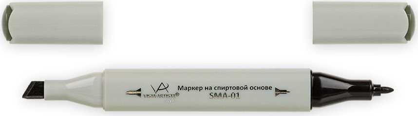 Vista-Artista Маркер Style цвет черно-оливковый Z45733834164782Маркер Style с двумя наконечниками позволяет работать различными живописными техниками такими, как скетчинг, создание иллюстраций, прорисовка дизайнов и др.-толстый, скошенный наконечник используют для закрашивания больших поверхностей и прорисовки широких линий, толщина линии 1-7 мм; -тонкий наконечник служит для тонких линий, прорисовки деталей и создания рисунка, толщина линии 1 мм.Цвета можно накладывать друг на друга и смешивать, получая при этом новые оттенки.