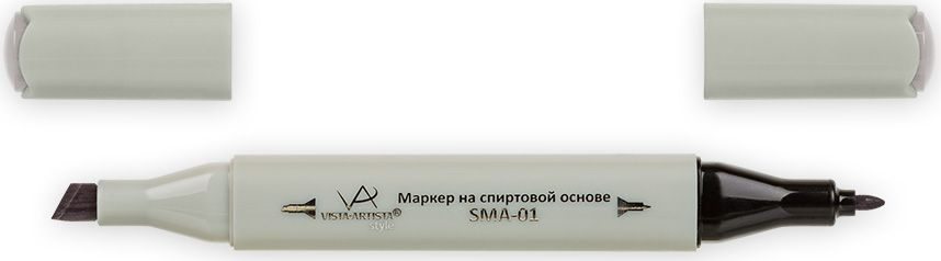 Vista-Artista Маркер Style цвет серый теплый 3 S48833860300662Маркер Style с двумя наконечниками позволяет работать различными живописными техниками такими, как скетчинг, создание иллюстраций,прорисовка дизайнов и др.-толстый, скошенный наконечник используют для закрашивания больших поверхностей и прорисовки широких линий, толщина линии 1-7 мм; -тонкий наконечник служит для тонких линий, прорисовки деталей и создания рисунка, толщина линии 1 мм.Цвета можно накладывать друг на друга и смешивать, получая при этом новые оттенки.