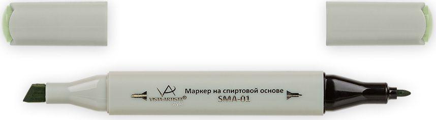 Vista-Artista Маркер Style цвет серо-фисташковый Z44333860304772Маркер Style с двумя наконечниками позволяет работать различными живописными техниками такими, как скетчинг, создание иллюстраций, прорисовка дизайнов и др. -толстый, скошенный наконечник используют для закрашивания больших поверхностей и прорисовки широких линий, толщина линии 1-7 мм;-тонкий наконечник служит для тонких линий, прорисовки деталей и создания рисунка, толщина линии 1 мм. Цвета можно накладывать друг на друга и смешивать, получая при этом новые оттенки.