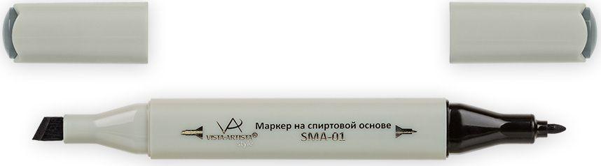 Vista-Artista Маркер Style цвет темный зелено-серый S53333860306402Маркер Style с двумя наконечниками позволяет работать различными живописными техниками такими, как скетчинг, создание иллюстраций,прорисовка дизайнов и др.-толстый, скошенный наконечник используют для закрашивания больших поверхностей и прорисовки широких линий, толщина линии 1-7 мм; -тонкий наконечник служит для тонких линий, прорисовки деталей и создания рисунка, толщина линии 1 мм.Цвета можно накладывать друг на друга и смешивать, получая при этом новые оттенки.
