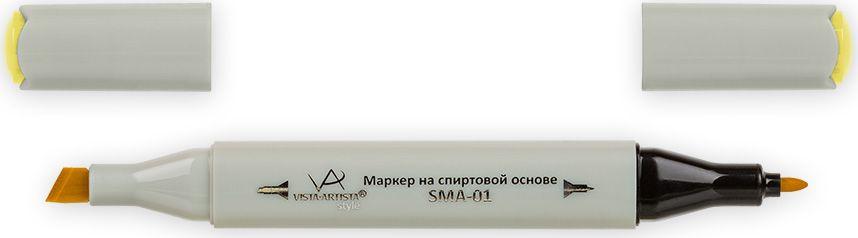 Vista-Artista Маркер Style цвет желтый пастельный J12233860308842Маркер Style с двумя наконечниками позволяет работать различными живописными техниками такими, как скетчинг, создание иллюстраций, прорисовка дизайнов и др.-толстый, скошенный наконечник используют для закрашивания больших поверхностей и прорисовки широких линий, толщина линии 1-7 мм; -тонкий наконечник служит для тонких линий, прорисовки деталей и создания рисунка, толщина линии 1 мм.Цвета можно накладывать друг на друга и смешивать, получая при этом новые оттенки.