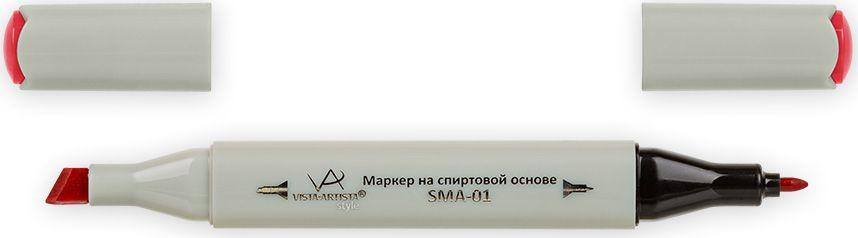 Vista-Artista Маркер Style цвет K226 алый33860348082Маркеры ТМ VISTA-ARTISTA Style позволяют работать различными живописными техниками такими, как скетчинг, создание иллюстраций, прорисовка дизайнов и др. Палитра маркеров включает 168 цветов - от пастельных до самых ярких (в том числе маркер-блендер). Маркеры обладают следующими параметрами:- На спиртовой основе.- Водостойкий и не смывается водой.- Два наконечника:* толстый, скошенный наконечник используют для закрашивания больших поверхностей и прорисовки широких линий, толщина линии 1-7 мм; * тонкий наконечник служит для тонких линий, прорисовки деталей и создания рисунка, толщина линии 1 мм.- Краска полупрозрачная, позволяет делать переходы из одного цвета в другой. После нанесения на бумагу высыхает почти сразу.- Цвета можно накладывать друг на друга и смешивать, получая при этом новые оттенки;- Не высыхает при плотно закрытых колпачках.- Маркер-блендер предназначен для создания визуальных эффектов - вымывания фона, смешивания цветов, добавления акварельных эффектов, изменения насыщенности цвета в рисунке.
