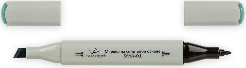 Vista-Artista Маркер Style цвет серо-бирюзовый G38433860354442Маркер Style с двумя наконечниками позволяет работать различными живописными техниками такими, как скетчинг, создание иллюстраций, прорисовка дизайнов и др.-толстый, скошенный наконечник используют для закрашивания больших поверхностей и прорисовки широких линий, толщина линии 1-7 мм; -тонкий наконечник служит для тонких линий, прорисовки деталей и создания рисунка, толщина линии 1 мм.Цвета можно накладывать друг на друга и смешивать, получая при этом новые оттенки.