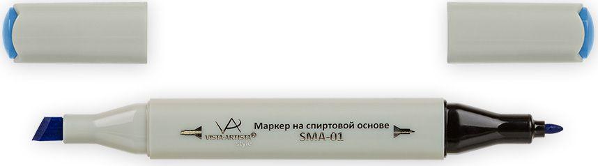 Vista-Artista Маркер Style цвет ярко-голубой G33233860355212Маркер Style с двумя наконечниками позволяет работать различными живописными техниками такими, как скетчинг, создание иллюстраций, прорисовка дизайнов и др. -толстый, скошенный наконечник используют для закрашивания больших поверхностей и прорисовки широких линий, толщина линии 1-7 мм;-тонкий наконечник служит для тонких линий, прорисовки деталей и создания рисунка, толщина линии 1 мм. Цвета можно накладывать друг на друга и смешивать, получая при этом новые оттенки.