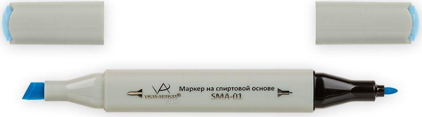 Vista-Artista Маркер Style цвет светлая светло-голубая бирюза G34433860355882Маркер Style с двумя наконечниками позволяет работать различными живописными техниками такими, как скетчинг, создание иллюстраций,прорисовка дизайнов и др.-толстый, скошенный наконечник используют для закрашивания больших поверхностей и прорисовки широких линий, толщина линии 1-7 мм; -тонкий наконечник служит для тонких линий, прорисовки деталей и создания рисунка, толщина линии 1 мм.Цвета можно накладывать друг на друга и смешивать, получая при этом новые оттенки.