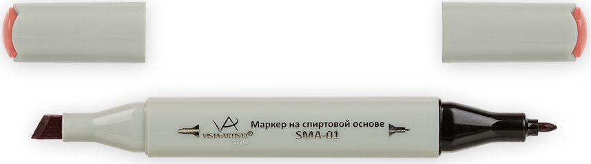 Vista-Artista Маркер Style цвет розово-коричневый K21833860355972Маркер Style с двумя наконечниками позволяет работать различными живописными техниками такими, как скетчинг, создание иллюстраций, прорисовка дизайнов и др. -толстый, скошенный наконечник используют для закрашивания больших поверхностей и прорисовки широких линий, толщина линии 1-7 мм;-тонкий наконечник служит для тонких линий, прорисовки деталей и создания рисунка, толщина линии 1 мм. Цвета можно накладывать друг на друга и смешивать, получая при этом новые оттенки.