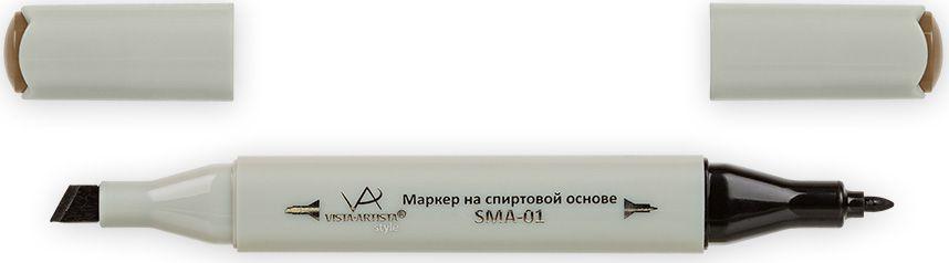 Vista-Artista Маркер Style цвет J169 бронзовый33860356082Маркеры ТМ VISTA-ARTISTA Style позволяют работать различными живописными техниками такими, как скетчинг, создание иллюстраций, прорисовка дизайнов и др. Палитра маркеров включает 168 цветов - от пастельных до самых ярких (в том числе маркер-блендер). Маркеры обладают следующими параметрами:- На спиртовой основе.- Водостойкий и не смывается водой.- Два наконечника:* толстый, скошенный наконечник используют для закрашивания больших поверхностей и прорисовки широких линий, толщина линии 1-7 мм; * тонкий наконечник служит для тонких линий, прорисовки деталей и создания рисунка, толщина линии 1 мм.- Краска полупрозрачная, позволяет делать переходы из одного цвета в другой. После нанесения на бумагу высыхает почти сразу.- Цвета можно накладывать друг на друга и смешивать, получая при этом новые оттенки;- Не высыхает при плотно закрытых колпачках.- Маркер-блендер предназначен для создания визуальных эффектов - вымывания фона, смешивания цветов, добавления акварельных эффектов, изменения насыщенности цвета в рисунке.