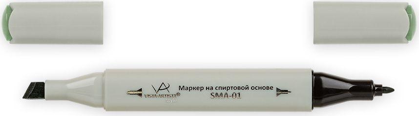 Vista-Artista Маркер Style цвет серо-зеленый Z43633860359022Маркер Style с двумя наконечниками позволяет работать различными живописными техниками такими, как скетчинг, создание иллюстраций, прорисовка дизайнов и др. -толстый, скошенный наконечник используют для закрашивания больших поверхностей и прорисовки широких линий, толщина линии 1-7 мм;-тонкий наконечник служит для тонких линий, прорисовки деталей и создания рисунка, толщина линии 1 мм. Цвета можно накладывать друг на друга и смешивать, получая при этом новые оттенки.
