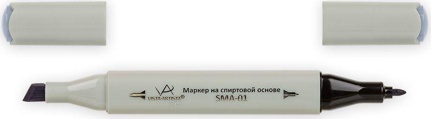 Vista-Artista Маркер Style цвет серый холодный II 4 S51933860365412Маркер Style с двумя наконечниками позволяет работать различными живописными техниками такими, как скетчинг, создание иллюстраций, прорисовка дизайнов и др. -толстый, скошенный наконечник используют для закрашивания больших поверхностей и прорисовки широких линий, толщина линии 1-7 мм;-тонкий наконечник служит для тонких линий, прорисовки деталей и создания рисунка, толщина линии 1 мм. Цвета можно накладывать друг на друга и смешивать, получая при этом новые оттенки.