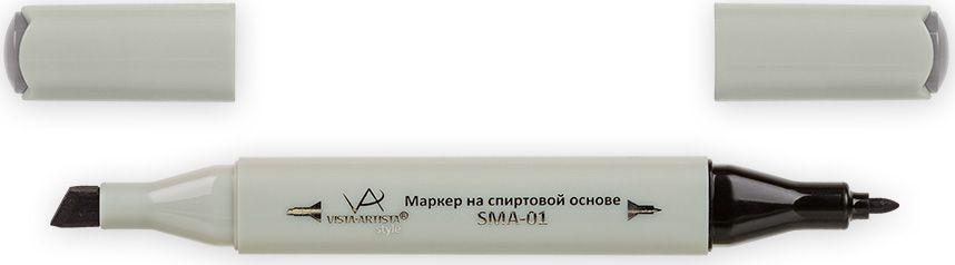 Vista-Artista Маркер Style цвет серый теплый 5 S49033860422372Маркер Style с двумя наконечниками позволяет работать различными живописными техниками такими, как скетчинг, создание иллюстраций, прорисовка дизайнов и др.-толстый, скошенный наконечник используют для закрашивания больших поверхностей и прорисовки широких линий, толщина линии 1-7 мм; -тонкий наконечник служит для тонких линий, прорисовки деталей и создания рисунка, толщина линии 1 мм.Цвета можно накладывать друг на друга и смешивать, получая при этом новые оттенки.