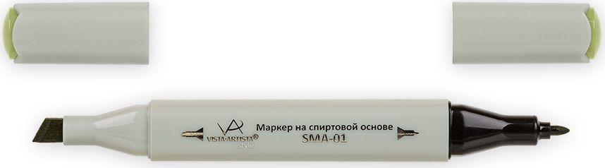 Vista-Artista Маркер Style цвет грязный хаки Z47133860423312Маркер Style с двумя наконечниками позволяет работать различными живописными техниками такими, как скетчинг, создание иллюстраций,прорисовка дизайнов и др.-толстый, скошенный наконечник используют для закрашивания больших поверхностей и прорисовки широких линий, толщина линии 1-7 мм; -тонкий наконечник служит для тонких линий, прорисовки деталей и создания рисунка, толщина линии 1 мм.Цвета можно накладывать друг на друга и смешивать, получая при этом новые оттенки.