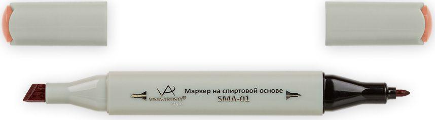 Vista-Artista Маркер Style цвет красная хна J19933860423412Маркер Style с двумя наконечниками позволяет работать различными живописными техниками такими, как скетчинг, создание иллюстраций,прорисовка дизайнов и др.-толстый, скошенный наконечник используют для закрашивания больших поверхностей и прорисовки широких линий, толщина линии 1-7 мм; -тонкий наконечник служит для тонких линий, прорисовки деталей и создания рисунка, толщина линии 1 мм.Цвета можно накладывать друг на друга и смешивать, получая при этом новые оттенки.