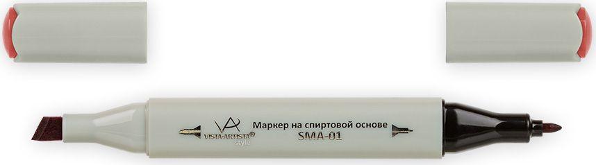 Vista-Artista Маркер Style цвет темный кораллово-розовый K23033860424042Маркер Style с двумя наконечниками позволяет работать различными живописными техниками такими, как скетчинг, создание иллюстраций, прорисовка дизайнов и др.-толстый, скошенный наконечник используют для закрашивания больших поверхностей и прорисовки широких линий, толщина линии 1-7 мм; -тонкий наконечник служит для тонких линий, прорисовки деталей и создания рисунка, толщина линии 1 мм.Цвета можно накладывать друг на друга и смешивать, получая при этом новые оттенки.