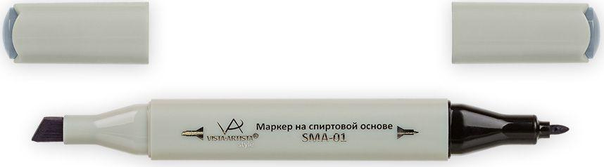 Vista-Artista Маркер Style цвет S520 серый холодный II 533860424472Маркеры ТМ VISTA-ARTISTA Style позволяют работать различными живописными техниками такими, как скетчинг, создание иллюстраций, прорисовка дизайнов и др. Палитра маркеров включает 168 цветов - от пастельных до самых ярких (в том числе маркер-блендер). Маркеры обладают следующими параметрами:- На спиртовой основе.- Водостойкий и не смывается водой.- Два наконечника:* толстый, скошенный наконечник используют для закрашивания больших поверхностей и прорисовки широких линий, толщина линии 1-7 мм; * тонкий наконечник служит для тонких линий, прорисовки деталей и создания рисунка, толщина линии 1 мм.- Краска полупрозрачная, позволяет делать переходы из одного цвета в другой. После нанесения на бумагу высыхает почти сразу.- Цвета можно накладывать друг на друга и смешивать, получая при этом новые оттенки;- Не высыхает при плотно закрытых колпачках.- Маркер-блендер предназначен для создания визуальных эффектов - вымывания фона, смешивания цветов, добавления акварельных эффектов, изменения насыщенности цвета в рисунке.