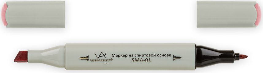 Vista-Artista Маркер Style цвет темно-розовый K23833860424502Маркер Style с двумя наконечниками позволяет работать различными живописными техниками такими, как скетчинг, создание иллюстраций, прорисовка дизайнов и др. -толстый, скошенный наконечник используют для закрашивания больших поверхностей и прорисовки широких линий, толщина линии 1-7 мм;-тонкий наконечник служит для тонких линий, прорисовки деталей и создания рисунка, толщина линии 1 мм. Цвета можно накладывать друг на друга и смешивать, получая при этом новые оттенки.