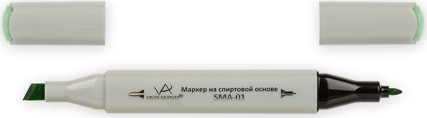 Vista-Artista Маркер Style цвет тусклая молодая зелень Z42633860424832Маркер Style с двумя наконечниками позволяет работать различными живописными техниками такими, как скетчинг, создание иллюстраций, прорисовка дизайнов и др. -толстый, скошенный наконечник используют для закрашивания больших поверхностей и прорисовки широких линий, толщина линии 1-7 мм;-тонкий наконечник служит для тонких линий, прорисовки деталей и создания рисунка, толщина линии 1 мм. Цвета можно накладывать друг на друга и смешивать, получая при этом новые оттенки.