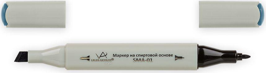 Vista-Artista Маркер Style цвет темный серо-голубой S52833860424962Маркер Style с двумя наконечниками позволяет работать различными живописными техниками такими, как скетчинг, создание иллюстраций, прорисовка дизайнов и др. -толстый, скошенный наконечник используют для закрашивания больших поверхностей и прорисовки широких линий, толщина линии 1-7 мм;-тонкий наконечник служит для тонких линий, прорисовки деталей и создания рисунка, толщина линии 1 мм. Цвета можно накладывать друг на друга и смешивать, получая при этом новые оттенки.