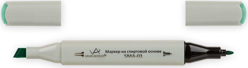 Vista-Artista Маркер Style цвет мятно-зеленый Z39833860427702Маркер Style с двумя наконечниками позволяет работать различными живописными техниками такими, как скетчинг, создание иллюстраций, прорисовка дизайнов и др. -толстый, скошенный наконечник используют для закрашивания больших поверхностей и прорисовки широких линий, толщина линии 1-7 мм;-тонкий наконечник служит для тонких линий, прорисовки деталей и создания рисунка, толщина линии 1 мм. Цвета можно накладывать друг на друга и смешивать, получая при этом новые оттенки.