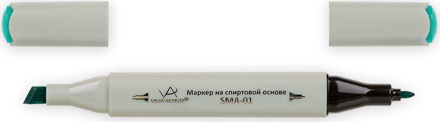Vista-Artista Маркер Style цвет светло-зеленая бирюза G38233860435102Маркер Style с двумя наконечниками позволяет работать различными живописными техниками такими, как скетчинг, создание иллюстраций, прорисовка дизайнов и др. -толстый, скошенный наконечник используют для закрашивания больших поверхностей и прорисовки широких линий, толщина линии 1-7 мм;-тонкий наконечник служит для тонких линий, прорисовки деталей и создания рисунка, толщина линии 1 мм. Цвета можно накладывать друг на друга и смешивать, получая при этом новые оттенки.