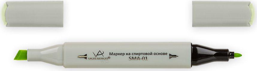 Vista-Artista Маркер Style цвет светлый светло-желто-зеленый Z44833862205042Маркер Style с двумя наконечниками позволяет работать различными живописными техниками такими, как скетчинг, создание иллюстраций, прорисовка дизайнов и др. -толстый, скошенный наконечник используют для закрашивания больших поверхностей и прорисовки широких линий, толщина линии 1-7 мм;-тонкий наконечник служит для тонких линий, прорисовки деталей и создания рисунка, толщина линии 1 мм. Цвета можно накладывать друг на друга и смешивать, получая при этом новые оттенки.