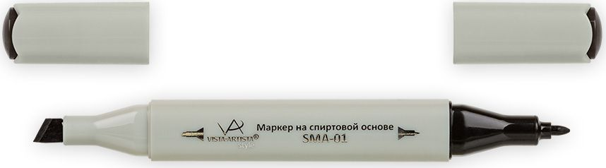 Vista-Artista Маркер Style цвет серый теплый 9 S49433862209852Маркер Style с двумя наконечниками позволяет работать различными живописными техниками такими, как скетчинг, создание иллюстраций, прорисовка дизайнов и др.-толстый, скошенный наконечник используют для закрашивания больших поверхностей и прорисовки широких линий, толщина линии 1-7 мм; -тонкий наконечник служит для тонких линий, прорисовки деталей и создания рисунка, толщина линии 1 мм.Цвета можно накладывать друг на друга и смешивать, получая при этом новые оттенки.