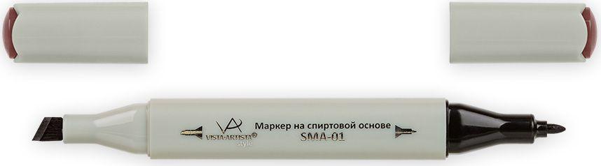 Vista-Artista Маркер Style цвет темный розово-коричневый K24533862210132Маркер Style с двумя наконечниками позволяет работать различными живописными техниками такими, как скетчинг, создание иллюстраций, прорисовка дизайнов и др. -толстый, скошенный наконечник используют для закрашивания больших поверхностей и прорисовки широких линий, толщина линии 1-7 мм;-тонкий наконечник служит для тонких линий, прорисовки деталей и создания рисунка, толщина линии 1 мм. Цвета можно накладывать друг на друга и смешивать, получая при этом новые оттенки.