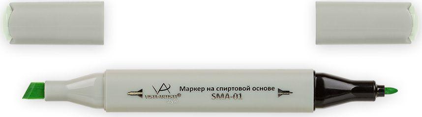 Vista-Artista Маркер Style цвет светлый светло-салатовый Z42333862210172Маркер Style с двумя наконечниками позволяет работать различными живописными техниками такими, как скетчинг, создание иллюстраций, прорисовка дизайнов и др.-толстый, скошенный наконечник используют для закрашивания больших поверхностей и прорисовки широких линий, толщина линии 1-7 мм; -тонкий наконечник служит для тонких линий, прорисовки деталей и создания рисунка, толщина линии 1 мм.Цвета можно накладывать друг на друга и смешивать, получая при этом новые оттенки.