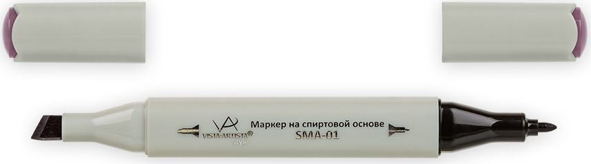 Vista-Artista Маркер Style цвет бледный аметистовый K27533862210312Маркер Style с двумя наконечниками позволяет работать различными живописными техниками такими, как скетчинг, создание иллюстраций,прорисовка дизайнов и др.-толстый, скошенный наконечник используют для закрашивания больших поверхностей и прорисовки широких линий, толщина линии 1-7 мм; -тонкий наконечник служит для тонких линий, прорисовки деталей и создания рисунка, толщина линии 1 мм.Цвета можно накладывать друг на друга и смешивать, получая при этом новые оттенки.