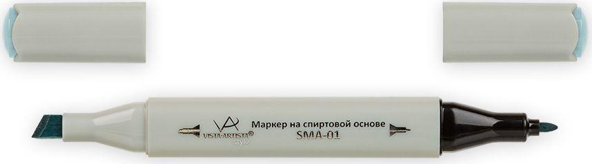 Vista-Artista Маркер Style цвет бледный аквамарин G35933862210422Маркер Style с двумя наконечниками позволяет работать различными живописными техниками такими, как скетчинг, создание иллюстраций, прорисовка дизайнов и др. -толстый, скошенный наконечник используют для закрашивания больших поверхностей и прорисовки широких линий, толщина линии 1-7 мм;-тонкий наконечник служит для тонких линий, прорисовки деталей и создания рисунка, толщина линии 1 мм. Цвета можно накладывать друг на друга и смешивать, получая при этом новые оттенки.