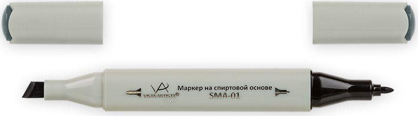 Vista-Artista Маркер Style цвет темный темно-зелено-серый S53433862210632Маркер Style с двумя наконечниками позволяет работать различными живописными техниками такими, как скетчинг, создание иллюстраций, прорисовка дизайнов и др. -толстый, скошенный наконечник используют для закрашивания больших поверхностей и прорисовки широких линий, толщина линии 1-7 мм;-тонкий наконечник служит для тонких линий, прорисовки деталей и создания рисунка, толщина линии 1 мм. Цвета можно накладывать друг на друга и смешивать, получая при этом новые оттенки.