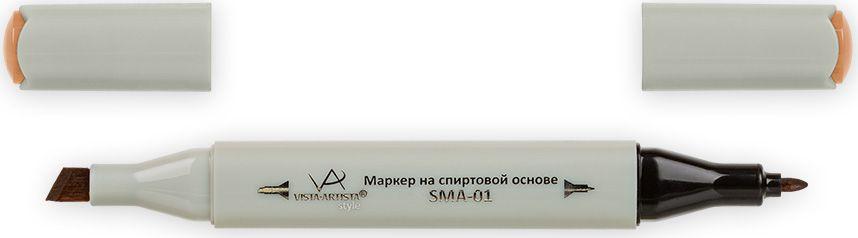 Vista-Artista Маркер Style цвет светло-коричневый J17733862326222Маркер Style с двумя наконечниками позволяет работать различными живописными техниками такими, как скетчинг, создание иллюстраций, прорисовка дизайнов и др.-толстый, скошенный наконечник используют для закрашивания больших поверхностей и прорисовки широких линий, толщина линии 1-7 мм; -тонкий наконечник служит для тонких линий, прорисовки деталей и создания рисунка, толщина линии 1 мм.Цвета можно накладывать друг на друга и смешивать, получая при этом новые оттенки.