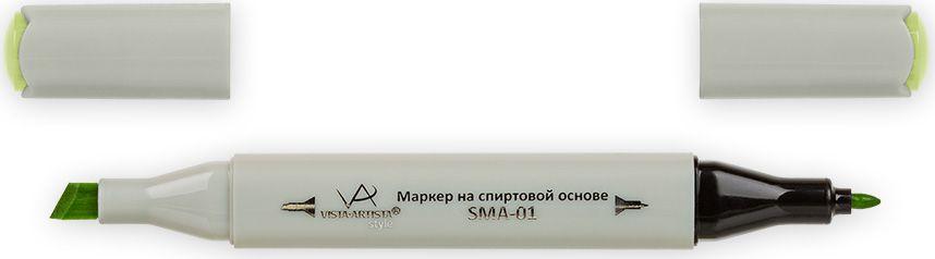 Vista-Artista Маркер Style цвет желто-зеленый Z45933862327992Маркер Style с двумя наконечниками позволяет работать различными живописными техниками такими, как скетчинг, создание иллюстраций, прорисовка дизайнов и др. -толстый, скошенный наконечник используют для закрашивания больших поверхностей и прорисовки широких линий, толщина линии 1-7 мм;-тонкий наконечник служит для тонких линий, прорисовки деталей и создания рисунка, толщина линии 1 мм. Цвета можно накладывать друг на друга и смешивать, получая при этом новые оттенки.
