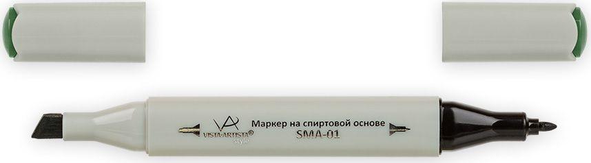 Vista-Artista Маркер Style цвет темно-зеленый хаки Z44033862334402Маркер Style с двумя наконечниками позволяет работать различными живописными техниками такими, как скетчинг, создание иллюстраций, прорисовка дизайнов и др.-толстый, скошенный наконечник используют для закрашивания больших поверхностей и прорисовки широких линий, толщина линии 1-7 мм; -тонкий наконечник служит для тонких линий, прорисовки деталей и создания рисунка, толщина линии 1 мм.Цвета можно накладывать друг на друга и смешивать, получая при этом новые оттенки.