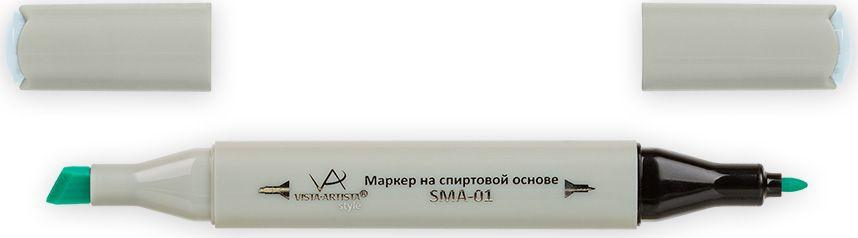 Vista-Artista Маркер Style цвет мятно-голубой G34333862339962Маркер Style с двумя наконечниками позволяет работать различными живописными техниками такими, как скетчинг, создание иллюстраций, прорисовка дизайнов и др. -толстый, скошенный наконечник используют для закрашивания больших поверхностей и прорисовки широких линий, толщина линии 1-7 мм;-тонкий наконечник служит для тонких линий, прорисовки деталей и создания рисунка, толщина линии 1 мм. Цвета можно накладывать друг на друга и смешивать, получая при этом новые оттенки.