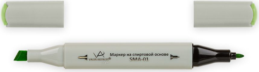 Vista-Artista Маркер Style цвет фисташковый Z44233862360932Маркер Style с двумя наконечниками позволяет работать различными живописными техниками такими, как скетчинг, создание иллюстраций, прорисовка дизайнов и др. -толстый, скошенный наконечник используют для закрашивания больших поверхностей и прорисовки широких линий, толщина линии 1-7 мм;-тонкий наконечник служит для тонких линий, прорисовки деталей и создания рисунка, толщина линии 1 мм. Цвета можно накладывать друг на друга и смешивать, получая при этом новые оттенки.