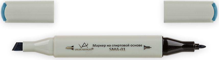 Vista-Artista Маркер Style цвет темной морской волны G35133862423822Маркер Style с двумя наконечниками позволяет работать различными живописными техниками такими, как скетчинг, создание иллюстраций, прорисовка дизайнов и др. -толстый, скошенный наконечник используют для закрашивания больших поверхностей и прорисовки широких линий, толщина линии 1-7 мм;-тонкий наконечник служит для тонких линий, прорисовки деталей и создания рисунка, толщина линии 1 мм. Цвета можно накладывать друг на друга и смешивать, получая при этом новые оттенки.