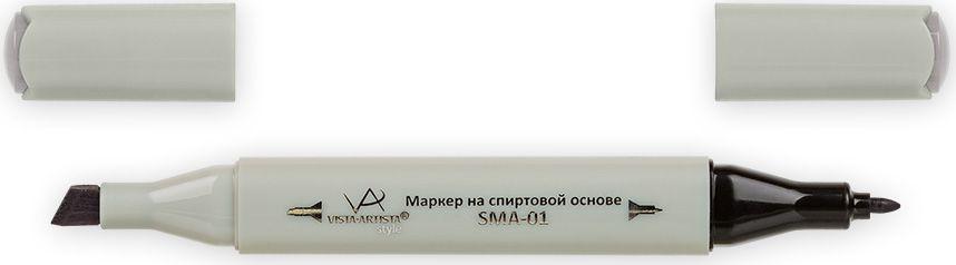 Vista-Artista Маркер Style цвет S489 серый теплый 433862424222Маркеры ТМ VISTA-ARTISTA Style позволяют работать различными живописными техниками такими, как скетчинг, создание иллюстраций, прорисовка дизайнов и др. Палитра маркеров включает 168 цветов - от пастельных до самых ярких (в том числе маркер-блендер). Маркеры обладают следующими параметрами:- На спиртовой основе.- Водостойкий и не смывается водой.- Два наконечника:* толстый, скошенный наконечник используют для закрашивания больших поверхностей и прорисовки широких линий, толщина линии 1-7 мм; * тонкий наконечник служит для тонких линий, прорисовки деталей и создания рисунка, толщина линии 1 мм.- Краска полупрозрачная, позволяет делать переходы из одного цвета в другой. После нанесения на бумагу высыхает почти сразу.- Цвета можно накладывать друг на друга и смешивать, получая при этом новые оттенки;- Не высыхает при плотно закрытых колпачках.- Маркер-блендер предназначен для создания визуальных эффектов - вымывания фона, смешивания цветов, добавления акварельных эффектов, изменения насыщенности цвета в рисунке.