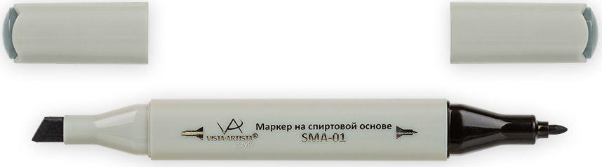 Vista-Artista Маркер Style цвет зелено-серый S53233862429942Маркер Style с двумя наконечниками позволяет работать различными живописными техниками такими, как скетчинг, создание иллюстраций, прорисовка дизайнов и др.-толстый, скошенный наконечник используют для закрашивания больших поверхностей и прорисовки широких линий, толщина линии 1-7 мм; -тонкий наконечник служит для тонких линий, прорисовки деталей и создания рисунка, толщина линии 1 мм.Цвета можно накладывать друг на друга и смешивать, получая при этом новые оттенки.