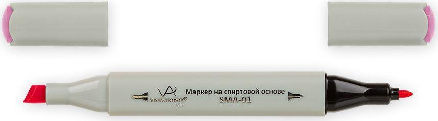 Vista-Artista Маркер Style цвет светлая фуксия K28133862430752Маркер Style с двумя наконечниками позволяет работать различными живописными техниками такими, как скетчинг, создание иллюстраций, прорисовка дизайнов и др. -толстый, скошенный наконечник используют для закрашивания больших поверхностей и прорисовки широких линий, толщина линии 1-7 мм;-тонкий наконечник служит для тонких линий, прорисовки деталей и создания рисунка, толщина линии 1 мм. Цвета можно накладывать друг на друга и смешивать, получая при этом новые оттенки.
