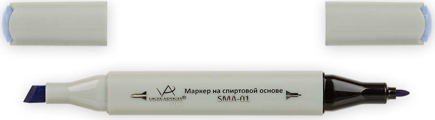 Vista-Artista Маркер Style цвет лавандово-голубой K31733862431832Маркер Style с двумя наконечниками позволяет работать различными живописными техниками такими, как скетчинг, создание иллюстраций, прорисовка дизайнов и др.-толстый, скошенный наконечник используют для закрашивания больших поверхностей и прорисовки широких линий, толщина линии 1-7 мм; -тонкий наконечник служит для тонких линий, прорисовки деталей и создания рисунка, толщина линии 1 мм.Цвета можно накладывать друг на друга и смешивать, получая при этом новые оттенки.