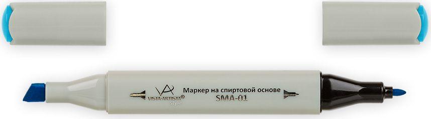 Vista-Artista Маркер Style цвет голубая бирюза G34633862476332Маркер Style с двумя наконечниками позволяет работать различными живописными техниками такими, как скетчинг, создание иллюстраций, прорисовка дизайнов и др.-толстый, скошенный наконечник используют для закрашивания больших поверхностей и прорисовки широких линий, толщина линии 1-7 мм; -тонкий наконечник служит для тонких линий, прорисовки деталей и создания рисунка, толщина линии 1 мм.Цвета можно накладывать друг на друга и смешивать, получая при этом новые оттенки.