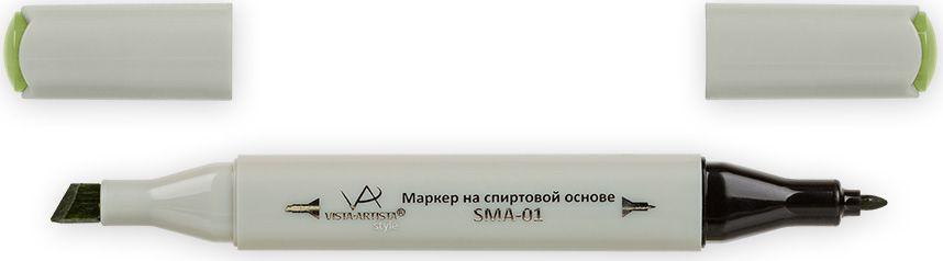 Vista-Artista Маркер Style цвет яркий желто-зеленый Z46833862480372Маркер Style с двумя наконечниками позволяет работать различными живописными техниками такими, как скетчинг, создание иллюстраций, прорисовка дизайнов и др.-толстый, скошенный наконечник используют для закрашивания больших поверхностей и прорисовки широких линий, толщина линии 1-7 мм; -тонкий наконечник служит для тонких линий, прорисовки деталей и создания рисунка, толщина линии 1 мм.Цвета можно накладывать друг на друга и смешивать, получая при этом новые оттенки.